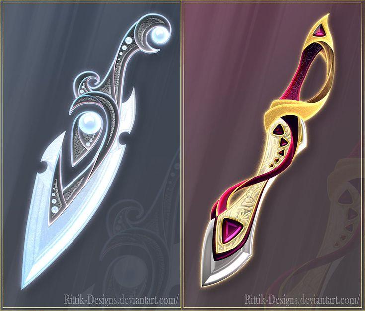 Daggers adopts 3 (CLOSED) by Rittik-Designs