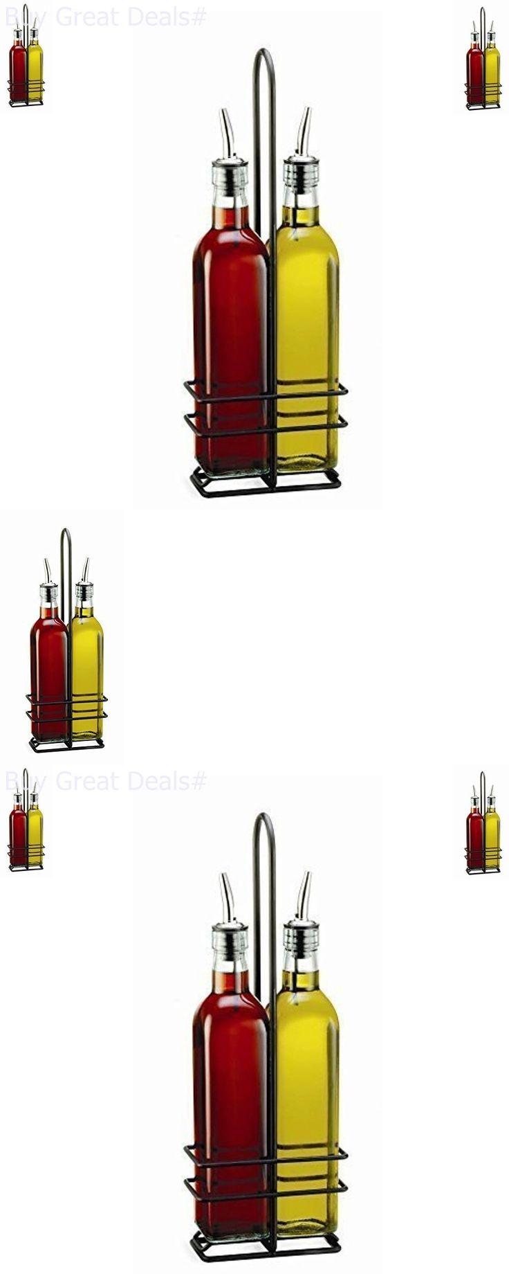 Oil and Vinegar Dispensers 54122: 16 Oz Olive Oil Bottle Set Vinegar Dispenser Container Pourer Sprayer Kitchen -> BUY IT NOW ONLY: $42.32 on eBay!
