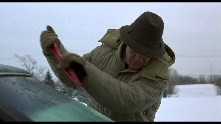 Fargo - Jerry Lundegaard scrapes windshield (HD) this is how all Canadians feel right now!!!