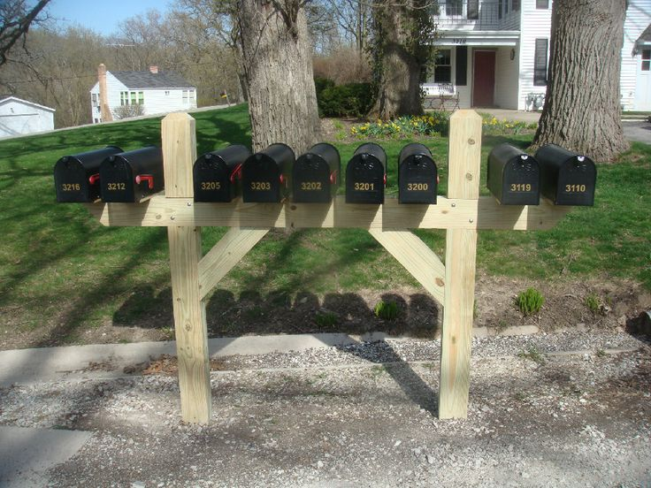 Mailbox Stand Designs : Multiple mailbox post stuff to buy pinterest