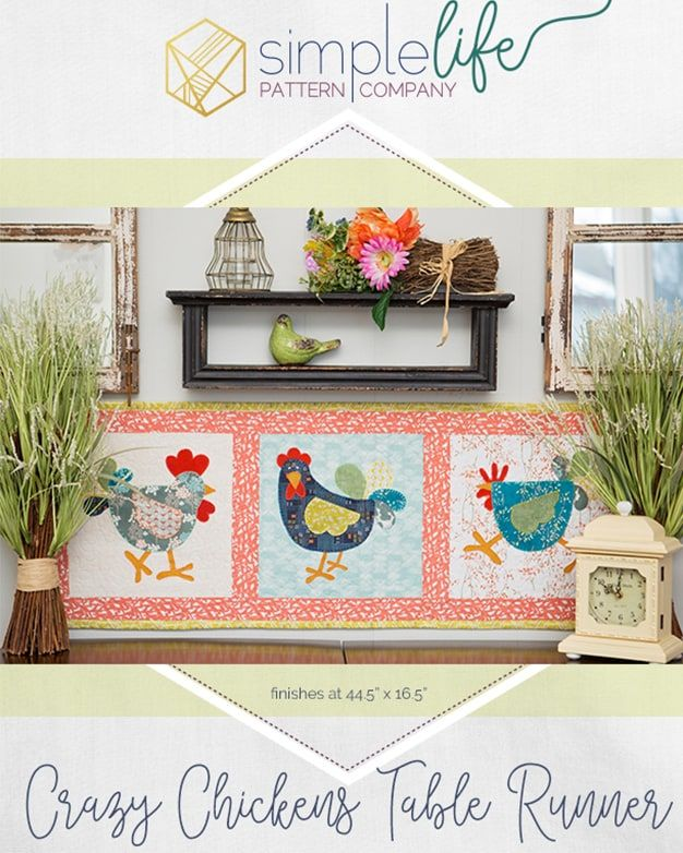 Free Crazy Chicken Table Runner Or Wall Hanging Pdf Downloadable