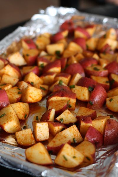Roasted Red Potatoes with Smoked Paprika  made by @Aggie's Kitchen: Potatoes Recipes, Vegan Side Dish, Aggie S Kitcheni, Meals With Sweet Potatoes, Roasted Red Potatoes, Chives Recipe, Aggies Kitchen, Recipes With Sweet Potatoes