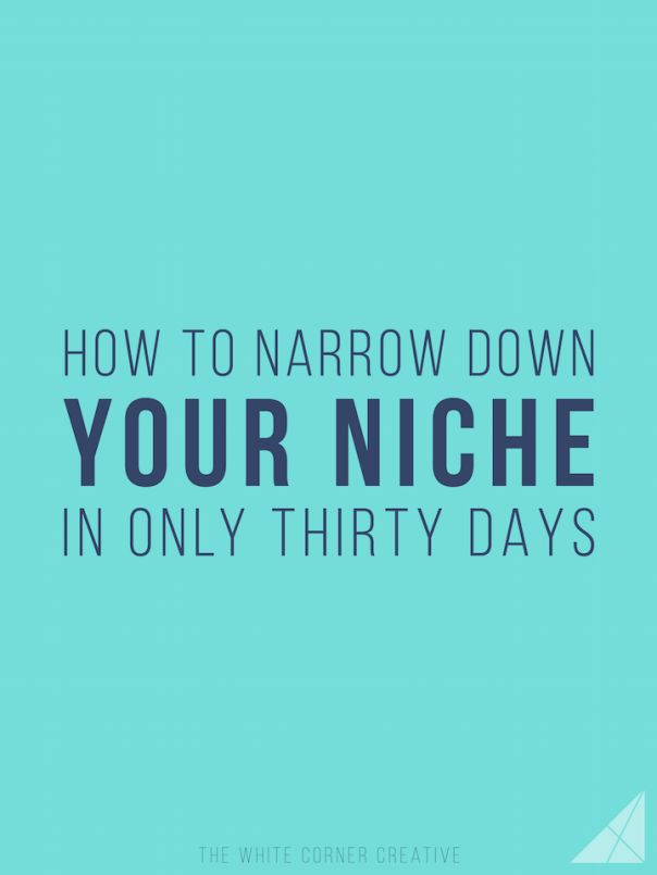 Narrowing down your niche can be difficult if you don't have a strategy - here's how to find your niche within 30 days with some careful planning.