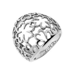 Sterling Silver Four Leaf Clover - Luck - Flower Dome Ring - Size 8 So Chic Jewels. $139.00