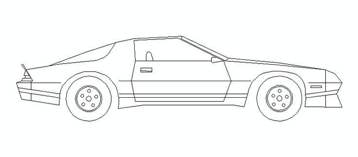 coche en alzado lateral, 03