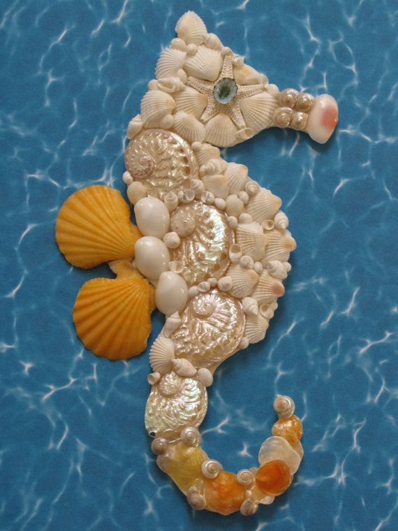 Hey, I found this really awesome Etsy listing at https://www.etsy.com/listing/220907746/seahorse-wall-decor-seahorse-shell-art