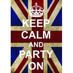 P2552 PARTY ON FUNNY WW2 UNION JACK KEEP CALM AND CARRY ON RANGE POSTER PRINT: Amazon.co.uk: Kitchen & Home