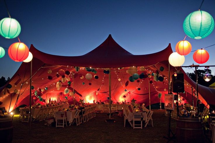 Paper Lanterns anyone?  They look great as another option for the Freeform Stretch Marquees