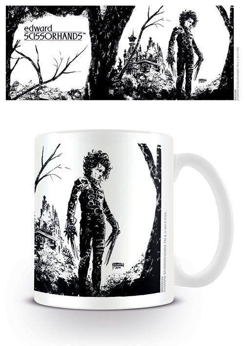 Edward mit den Scherenhänden Tasse Black Ink