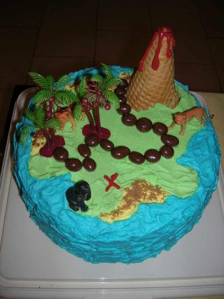 Treasure Island Cake for 5th Birthday