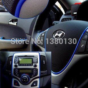 6 m auto decoratie sticker draad leuke auto-interieur decal versieren op voor opel ford focus 2014 mazda kia vw FreeShipping