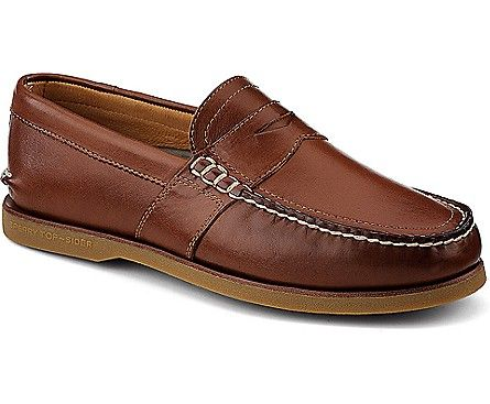 Gold Cup Authentic Original Penny Loafer, Tan Burnished Leather