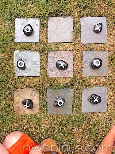 DIY: Garden Tic-Tac-Toe #DIY, #Game, #Garden