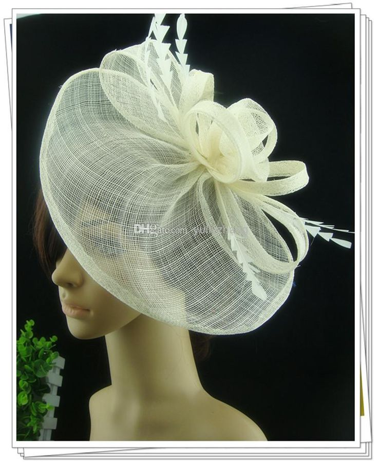 Cheap Fascinators - Discount Multiple Color Fascinator Hair Accessories Sinamay Hats Party Online with $5.24/Piece | DHgate