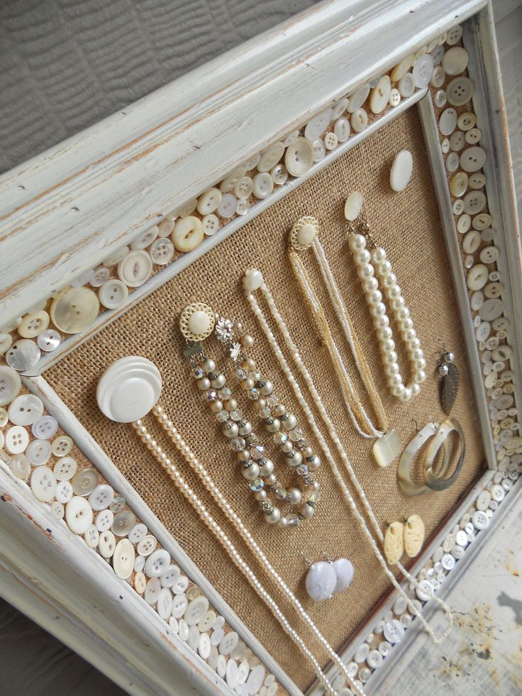 Jewelry Organizer Display Earring and Necklace by humblebeeproject