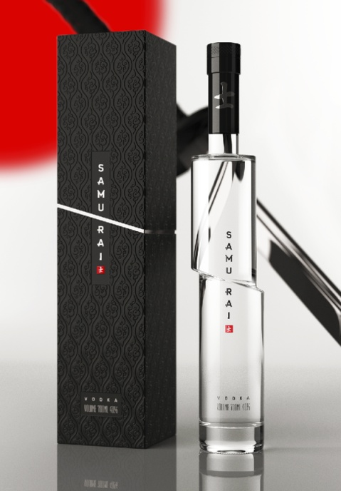 Samurai Vodka Packaging Design
