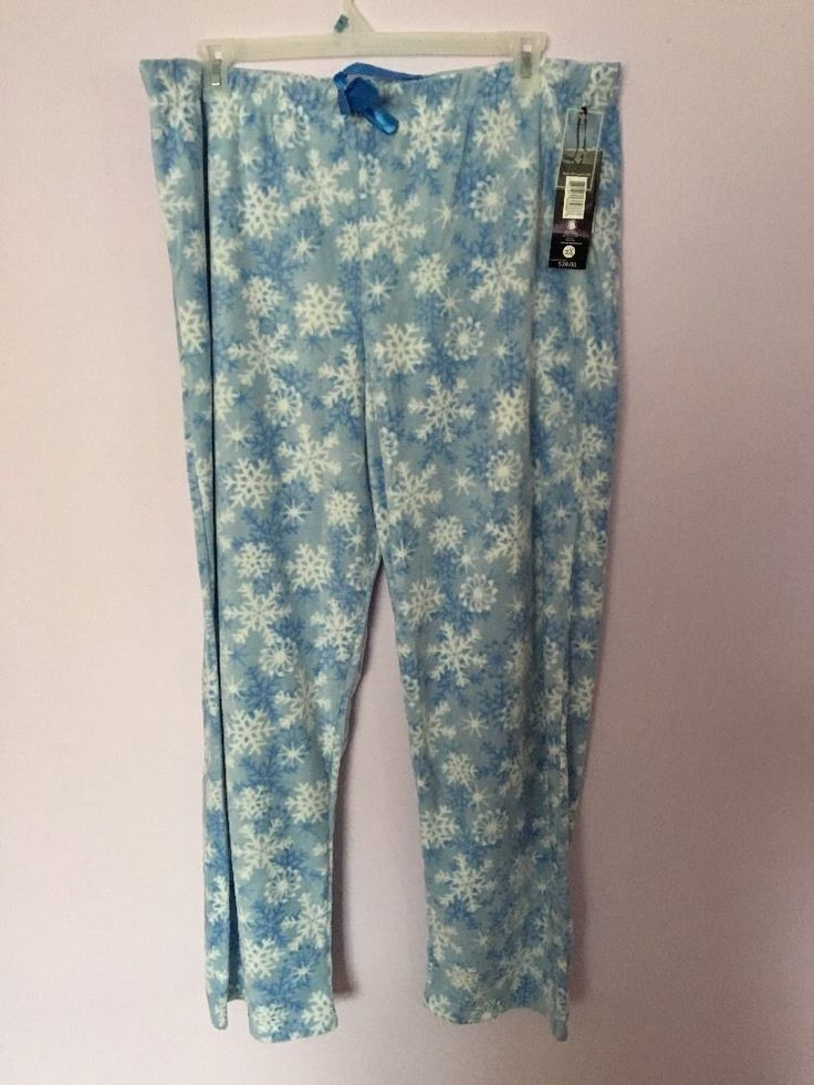 Harve Benard Womens Fleece Pajamas Black Lounge Pants Plus Size 2X | eBay