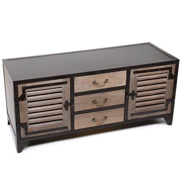 Magnificent #cabinet with metallic and wooden combination of materials. www.inart.com