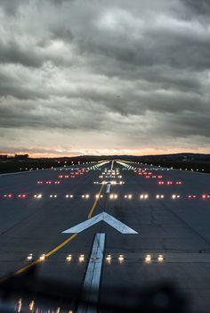 Airport runway...