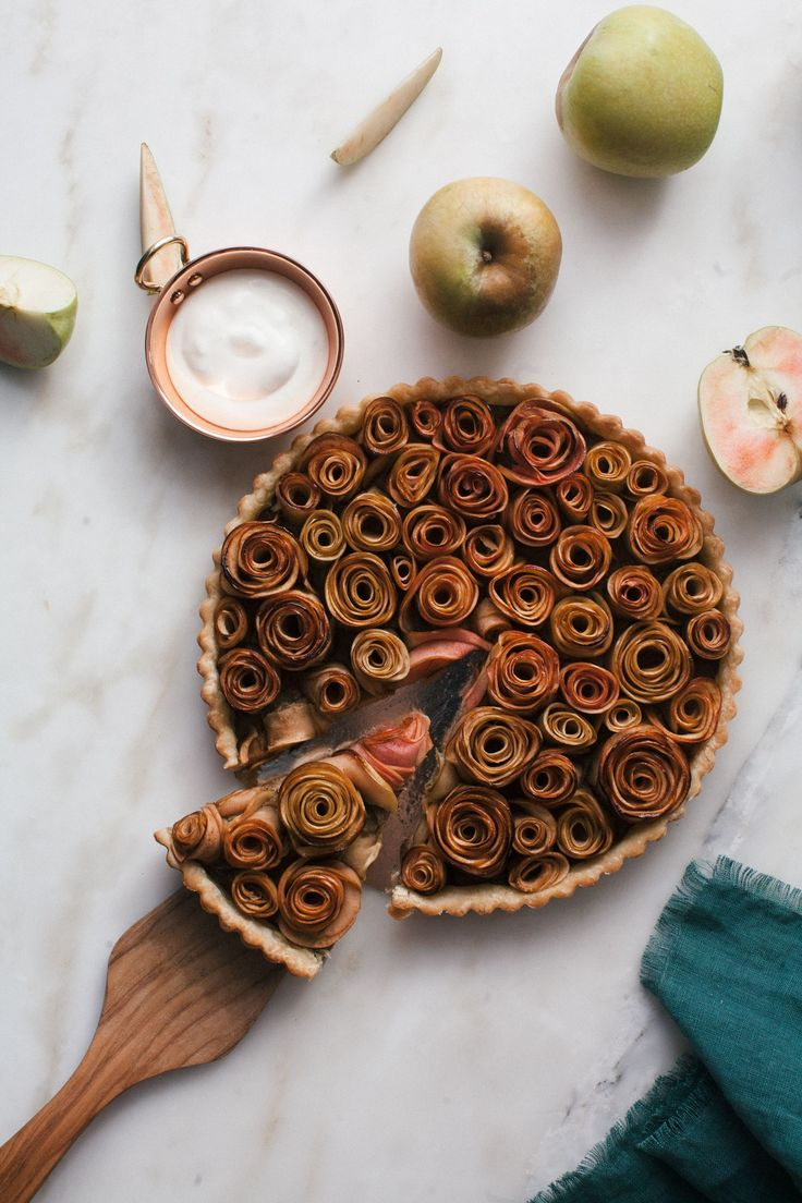 This Rose Apple Pistachio Tart almost looks too pretty to eat!