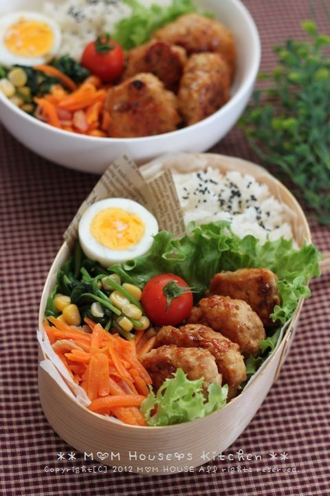 Good bento lunch - no recipe attached but easy to duplicate although I would use brown rice