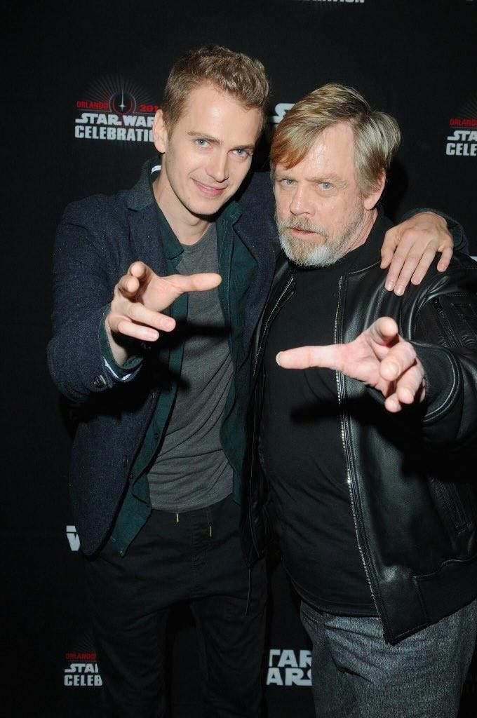 hayden christensen mark hamill star wars celebration 2017