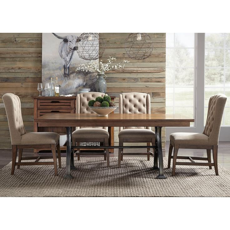 Liberty Arlington House Cobblestone Trestle 5-piece Trestle Table Set