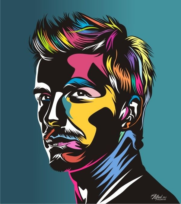 David Beckham, Pop Art.