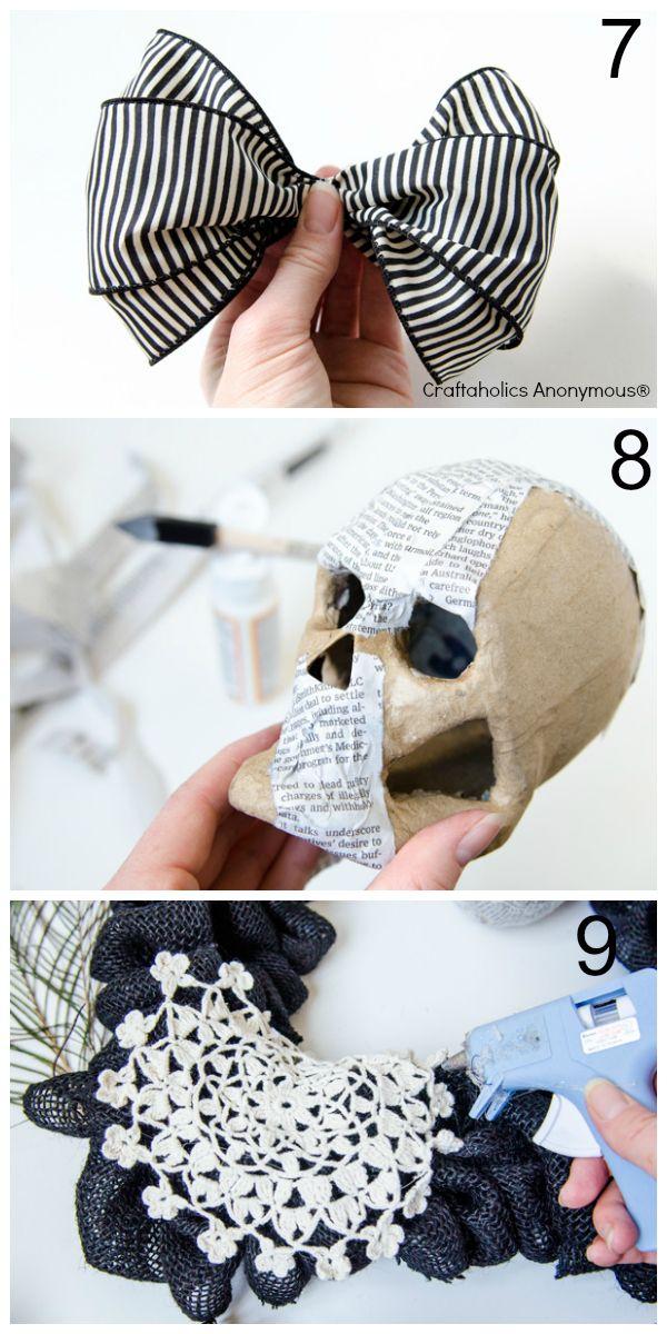 Craftaholics Anonymous® | Burlap Halloween Wreath Tutorial + Halloween Mantel