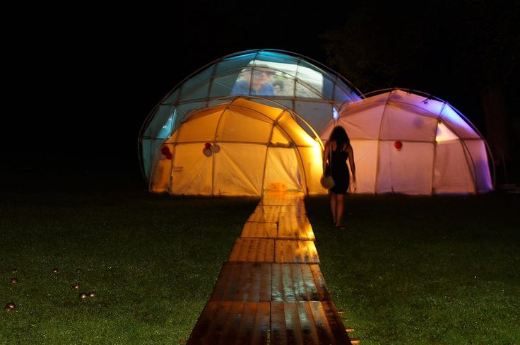 We can light up the tents and project visuals even photos or home videos of the wedding couple.