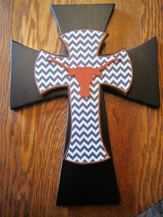 Texas Longhorn Burnt Orange and Black by iGottaHaveItAll on Etsy, $26.00