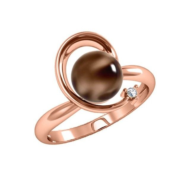 ROSE GOLD CHOCOLATE PEARL RING