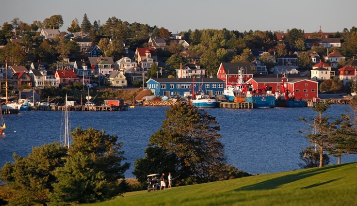 Lunenburg NS harbour from the golf course