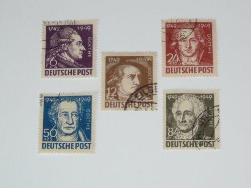 Stamp Pickers Germany DDR 1949 Goethe VFU Set Scott #10NB6-10NB10
