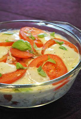 Gnocchi-Auflauf mit frischen Tomaten und Mozzarella