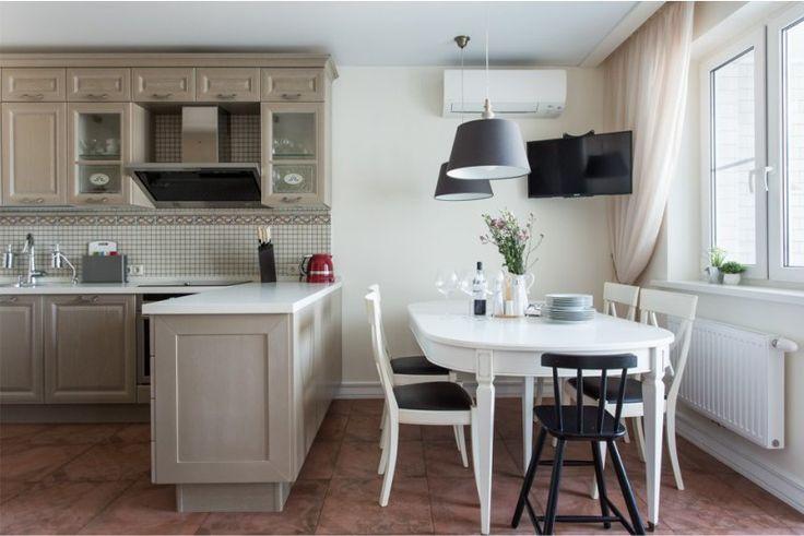 Керамическая мозаика в интерьере кухни