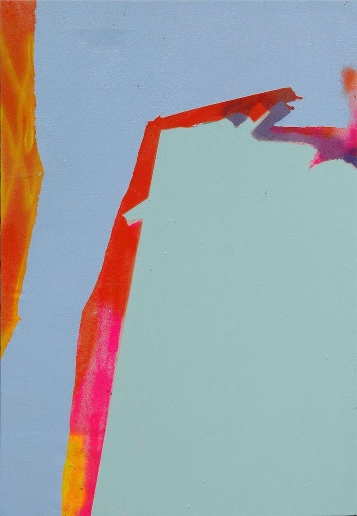 Tira Walsh, Hide, mixed media on canvas, 550mm x 800mm, ©, September 2016