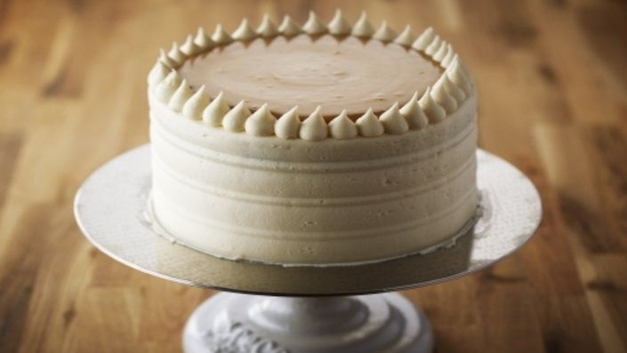 How to make the perfect Vanilla Birthday Cake with Caramel Cream by Anna Olson on Food Network UK.