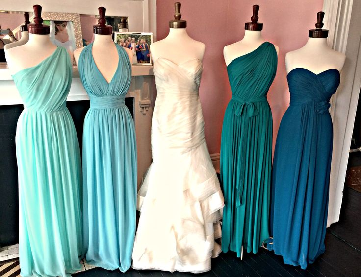 teal ombre bridesmaid dresses - Google Search More