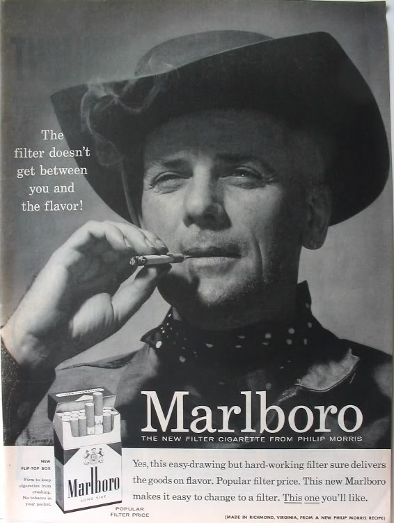 PG015 Marlboro filter cigarettes poster by Leo Burnett (1954)