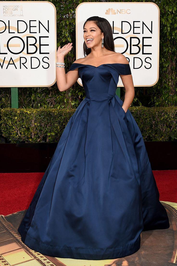 Golden Globes 2016 Red Carpet Fashion | Gina Rodriguez