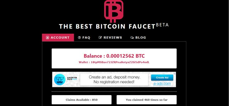 https://www.thebestbitcoinfaucet.com/?refid=19303 Just Launched  Claim 15-30 Satoshi every 1 minutes You will earn more than 2000 satoshi a day Max claim 100 times Min Payout 0.005 BTC every Sunday Payment  THE BEST BITCOIN FAUCET