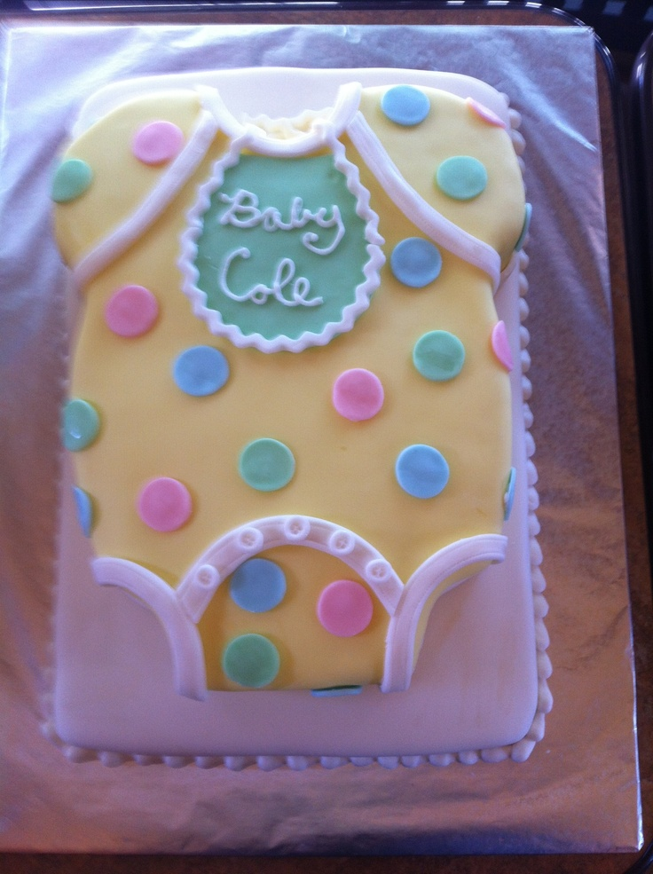 Baby Shaped Cake Images : Onesie Shaped Cake for Baby Shower Shower Pinterest ...