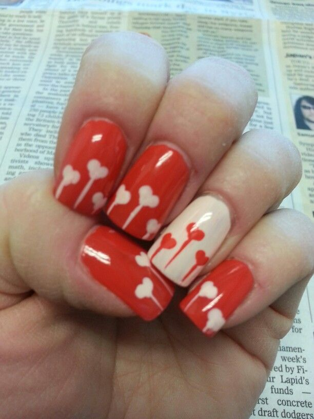 valentines day nails 2014