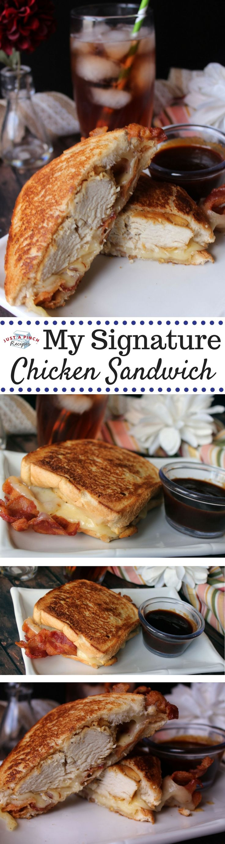 I made these homemade chicken sandwiches for dinner, tonight, and they were delicious! Gooey Swiss cheese, chicken and bacon, what is not to like?!