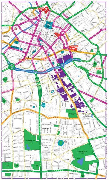 manchester england tourism | Manchester Tourist Map - Manchester England UK • mappery