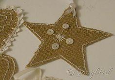 Burlap Christmas | Burlap Ornaments ~ 12 Days of Christmas Decorations / Day 6