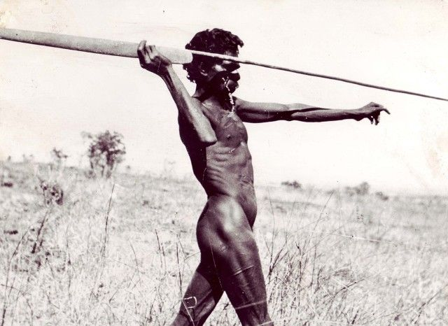 Aboriginal hunting man
