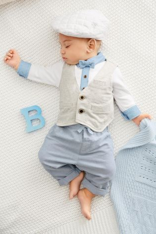 Buy Four Piece Waistcoat And Bow Tie Set (0-18mths) online today at Next: United States of America
