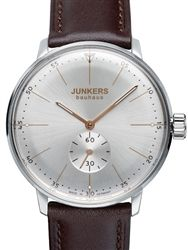 Junkers Bauhaus Swiss Mechanical Hand Winding Watch with Domed Hesalite Crystal #6032-5